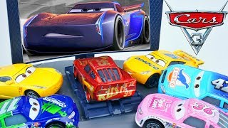 BRAND NEW DISNEY CARS RUSTEZE RACING FUNNY WRECK CRUZ TRAINS LIGHTNING DISNEY CARS 3 STORY SET