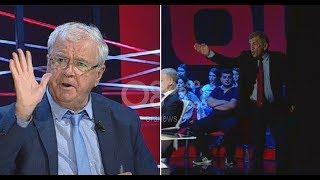 """Ora News - Plas në """"360Gradë"""", Panajot Barka braktis studion pas sherrit me Ngjelën"""