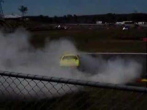 CAPA V8 Utes at Darwin V8 Supercars burnout drift