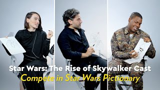 Star Wars: The Rise of Skywalker Cast Compete in Star Wars Pictionary | POPSUGAR Pop Quiz