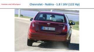 Chevrolet - Nubira - 1.8 i 16V (122 Hp), Automobile performance, specs