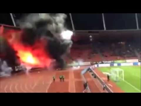 Grasshoppers Pyroshow beim Stadtderby gegen FC Zürich 30.10.13