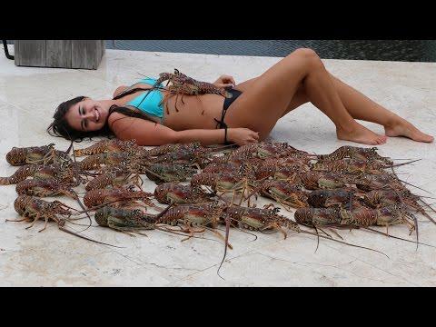 Girl Freediver Killing it Underwater!- Lobster Mini Season 2015