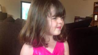 Mikayla thanking grandma and grandpa for her birthday prese Thumbnail