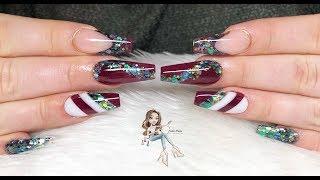 Christmas jolys | Acrylic nail design | All Powder