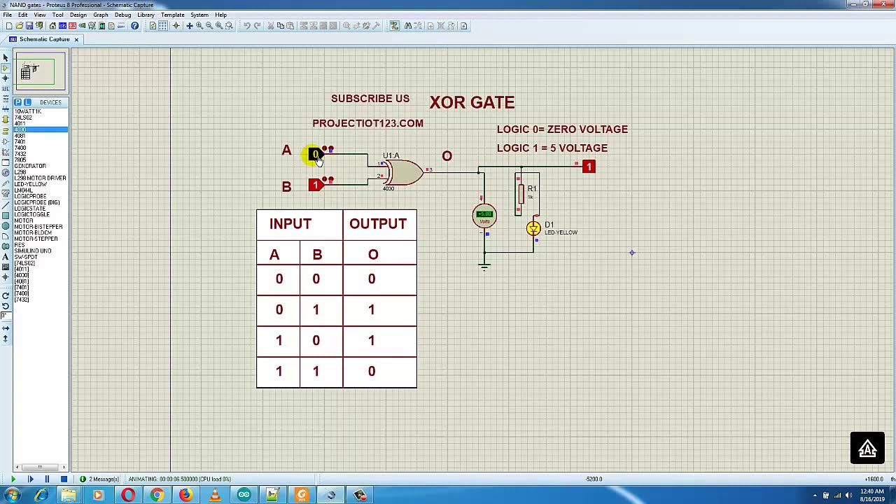 Introduction to XOR Gate - projectiot123 Technology ... on