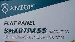 Antop Amplified Outdoor/ Indoor TV Antenna demonstration