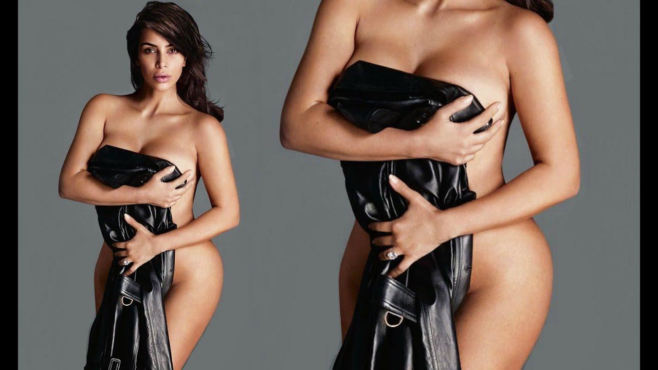 Kim Kardashian Poses Completely Naked On Instagram - YouTube