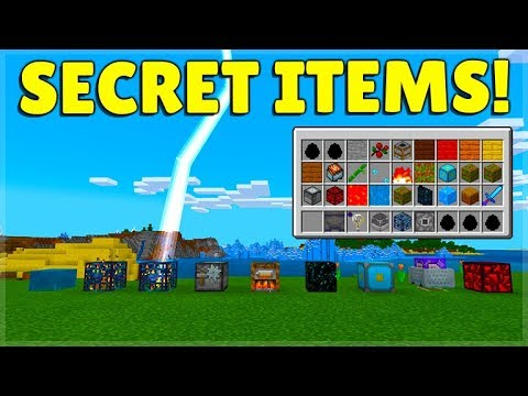 These Are New Secret Items Blocks In Minecraft Bedrock Mcpe Youtube