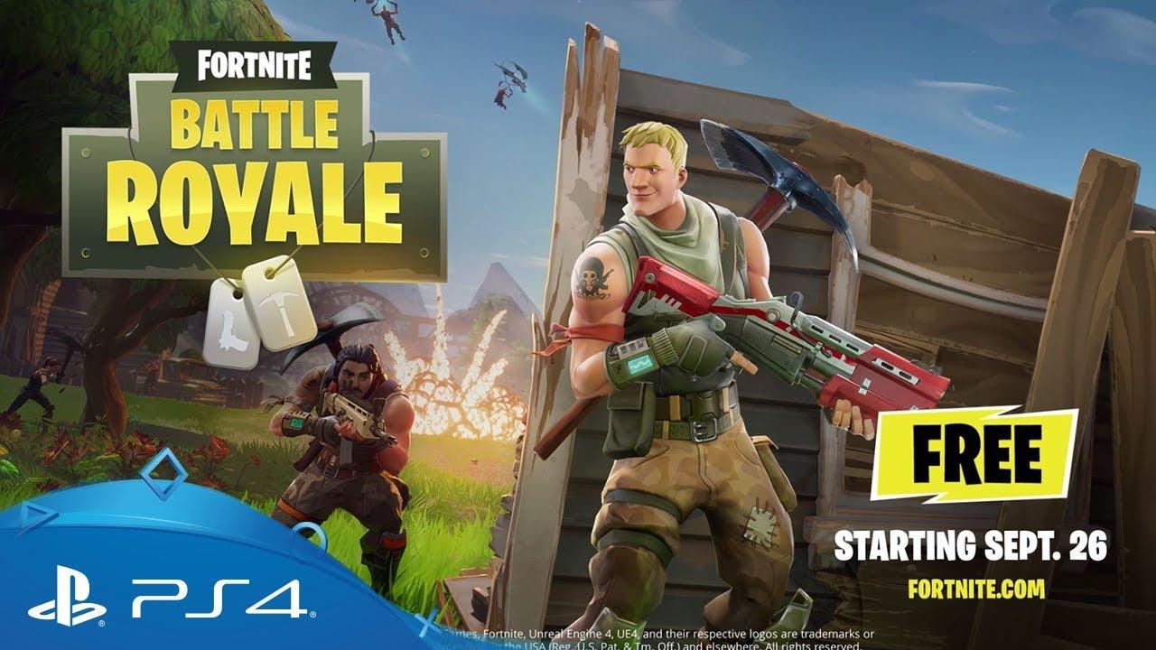 Fortnite Battle Royale Gameplay Trailer Ps4 Youtube