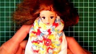 Учимся вязать для куклы - 1-й урок для девочек - для тех, кто не умеет вязать, но хочет научиться
