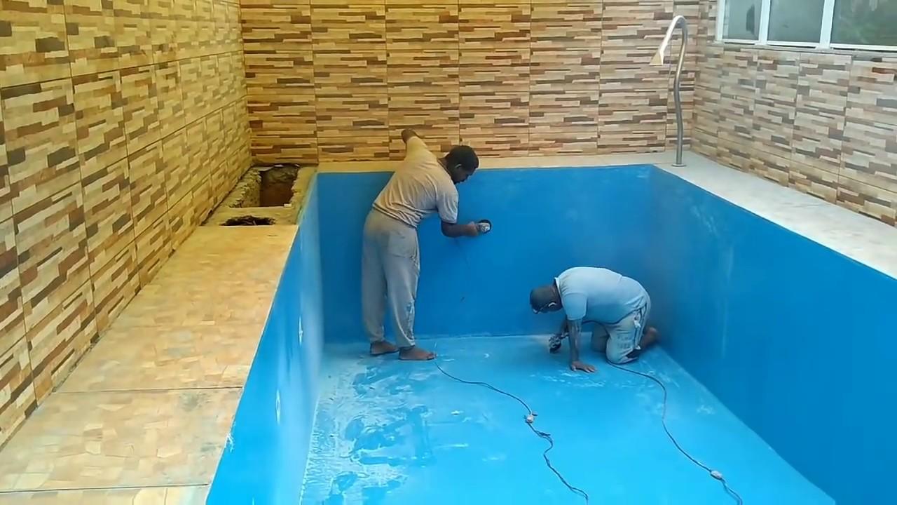 Piscina de azulejos transformada em piscina de fibra de - Azulejos para piscina ...