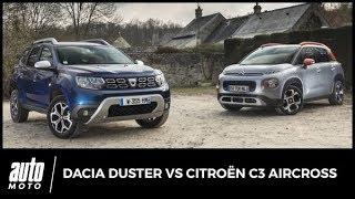 2018 Dacia Duster vs Citroën C3 Aircross : lutte des classes