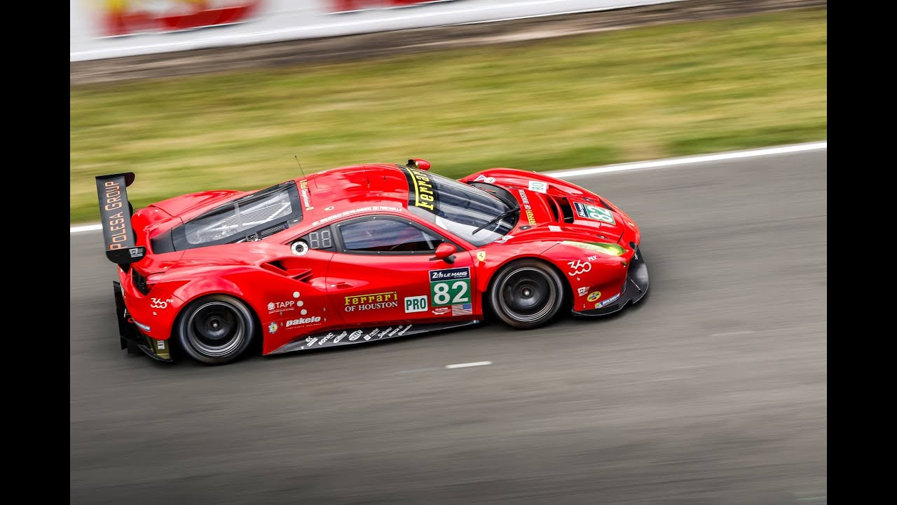 ferrari 488 gte risi competizione @lemans 2016 | box-sound - youtube