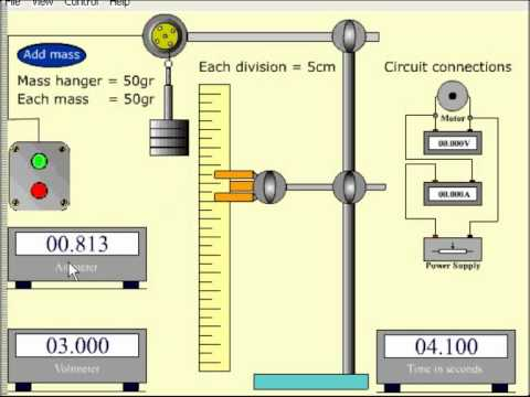 The Efficiency Of A Small Electric Motor Simulation