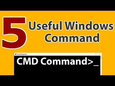 5 Useful Windows CMD Commands   Hindi   Techchip