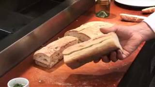 Garlic Bread With Bleu Cheese Fondue