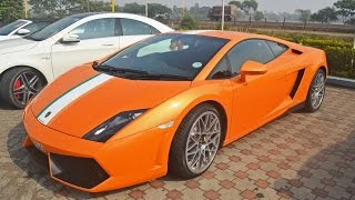 Super cars in Kolkata, India- Lamborghini Gallardo, Jaguar F type, Aston Martin Virage | RWR