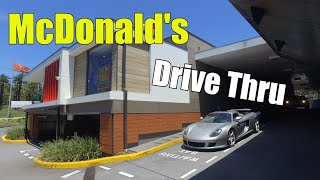 McDonald's drive thru with a Porsche Carrera GT