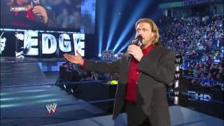 WWE Edge surrendered the World Heavyweight Championship and retired 4.15.11 [HD]