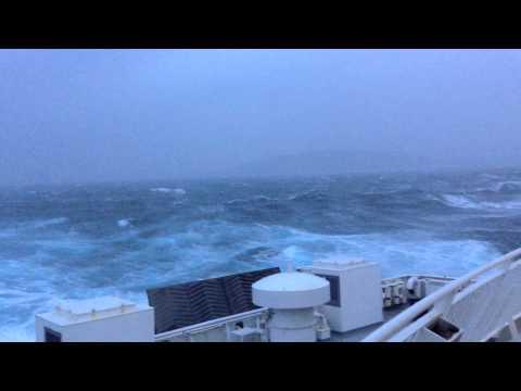 Force 10 winds Lerwick to Aberdeen ferry crossing  March 15