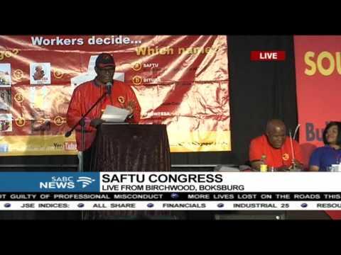 Zwelinzima Vavi addresses the SAFTU congress