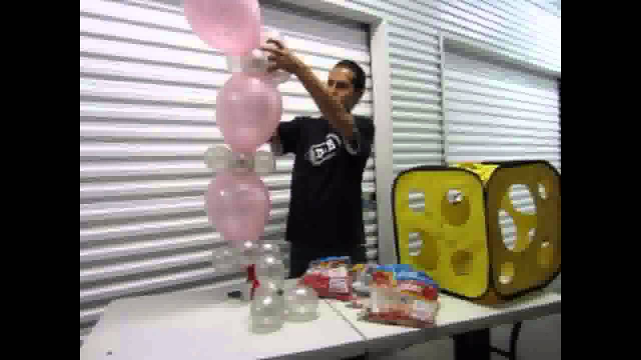 Como crear una columna con globo bipolo decoraciones con for Como hacer decoracion con globos