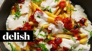 How To Make Margherita Pizza Fries  Delish