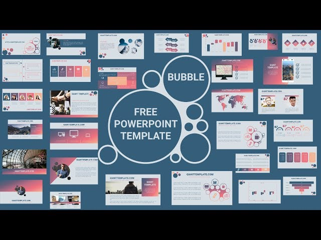free download morph powerpoint template bubble 30 slide free