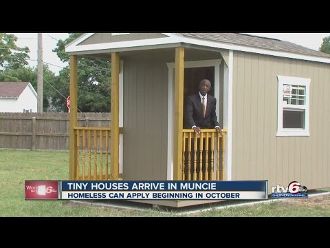 Tiny houses for the homeless arrive in Muncie