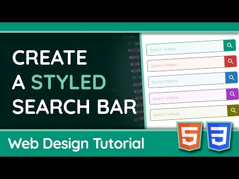 Create A Styled Search Bar with HTML + CSS - Web Design Tutorial thumbnail