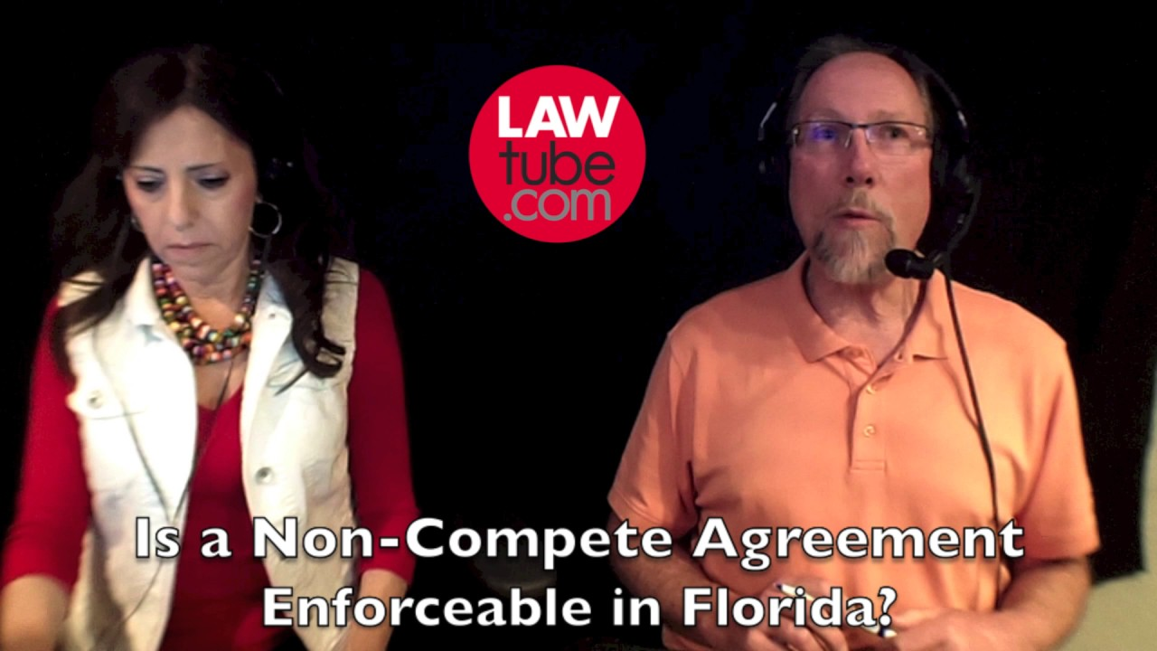 Is A Noncompete Agreement Enforceable In Florida Youtube