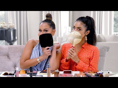 Adrienne Houghton | No Mirror Makeup Challenge ft. Dulce Candy