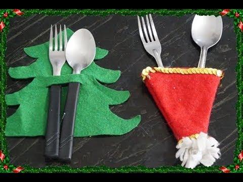 DIY: Porta talheres para o natal