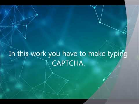 Online CAPTCHA work with instant payments