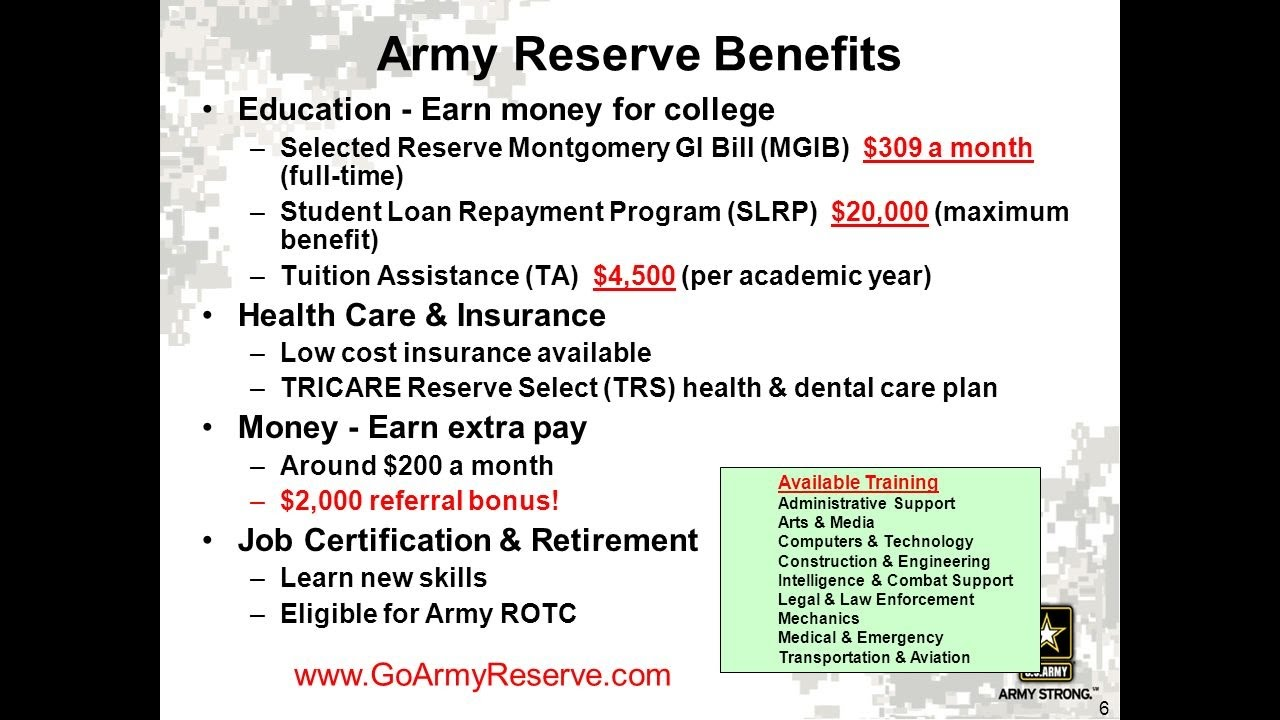 How to go to college using your Reserve/National Guard school ...