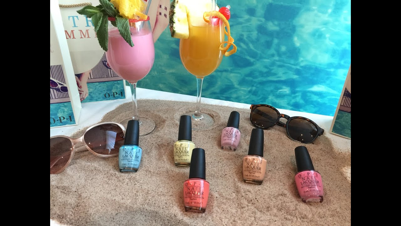 OPI Summer collection 2016 ~Retro summer~ Live swatches - YouTube