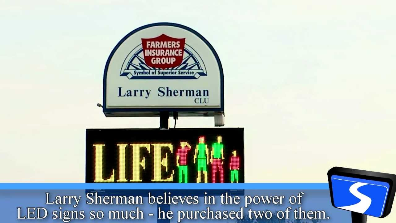 Signtronix LED Sign customer - Larry Sherman Farmer's ...