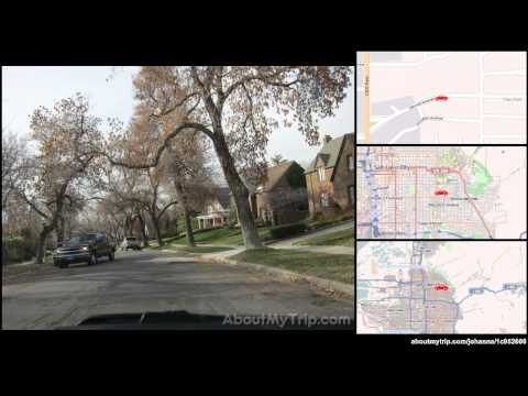 Sunnyside Avenue (Bonneville Hills, Salt Lake City, UT) to University Line (East Central) via (...)