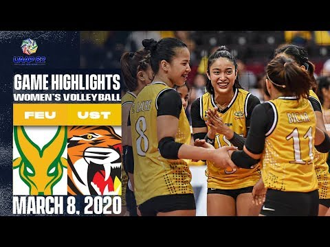 FEU Vs. UST - March 8, 2020  | Game Highlights | UAAP 82 WV
