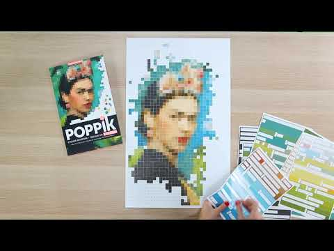 Poppik : Frida Kahlo avec 1900 stickers