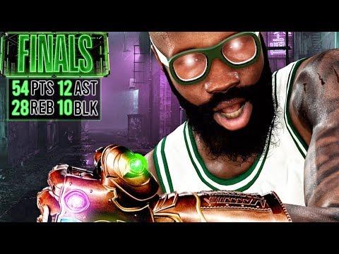 50 POINT QUADRUPLE-DOUBLE IN FINALS! NBA 2K20 My Career Gameplay Best Paint Beast Build