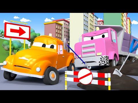 скачать Flavy Nen Fait Quà Sa Tête Et Reste Coincée Tom La Dépanneuse à Car City L Dessin Animé смотреть онлайн видео