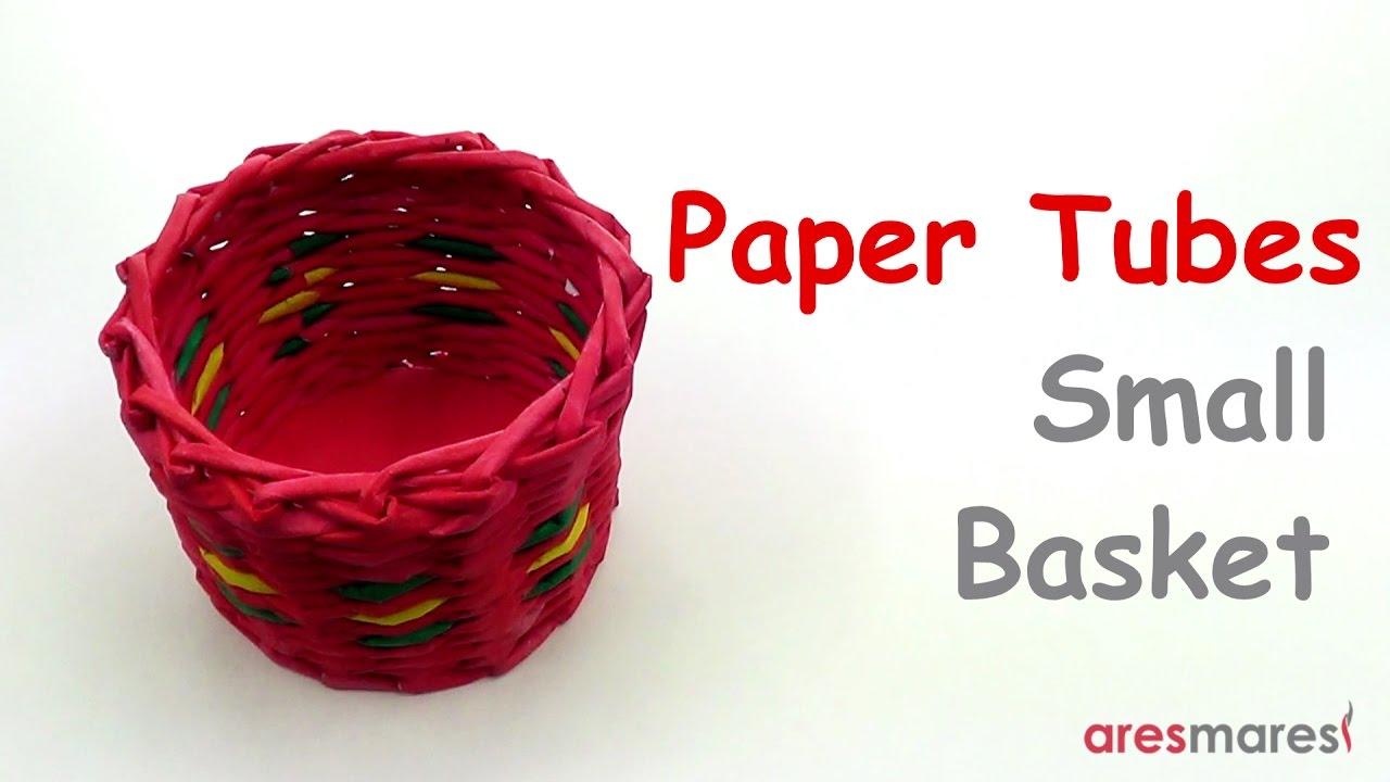 Paper Tubes Weaving Small Basket (intermediate - paper tubes)