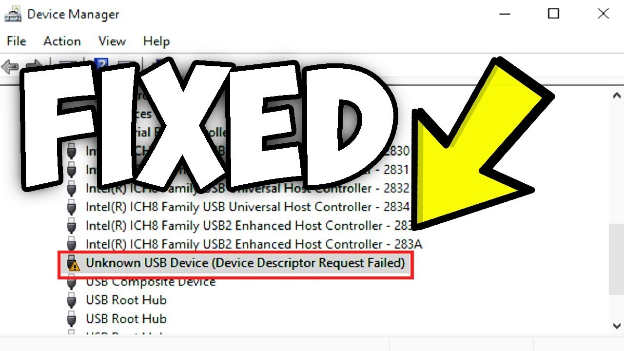 Question - USB Device (Device Descriptor Request Failed