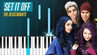 Descendants Cast Set It Off Piano Tutorial - Chords - How To Play - Cover.mp3