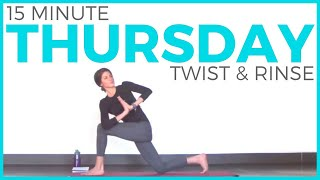 Thursday - Twist & Rinse Vinyasa Yoga Routine | 7 Day Yoga Challenge