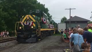 150th Erie county fair train pulls into Hamburg Ny depot on 8/1/18.