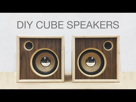 DIY Wooden Cube Speakers | Upcycling Old Speakers | Modern Builds | EP. 62