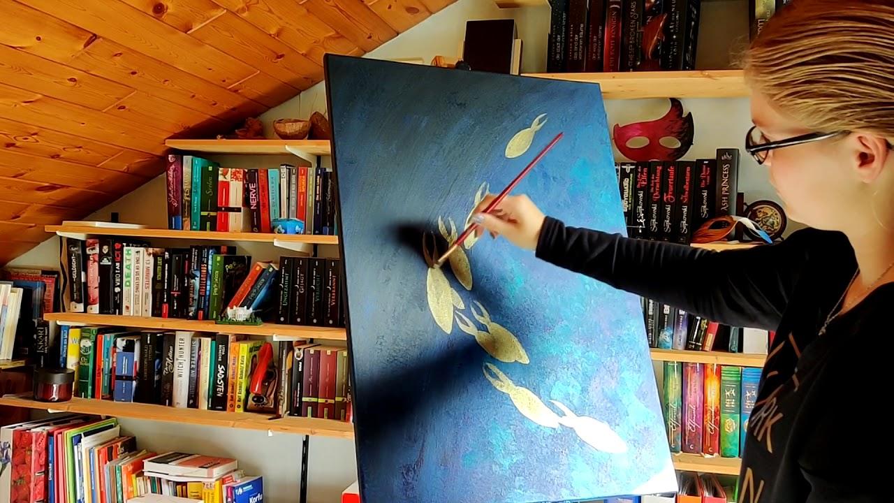 Easy acrylic underwater painting TUTORIAL - YouTube